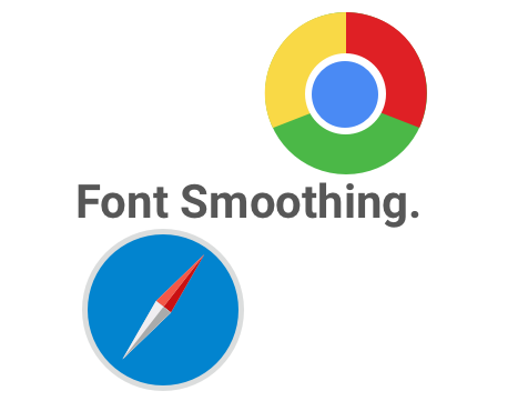 Safari and Chrome font smoothing