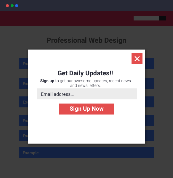 modal pop ups and your seo